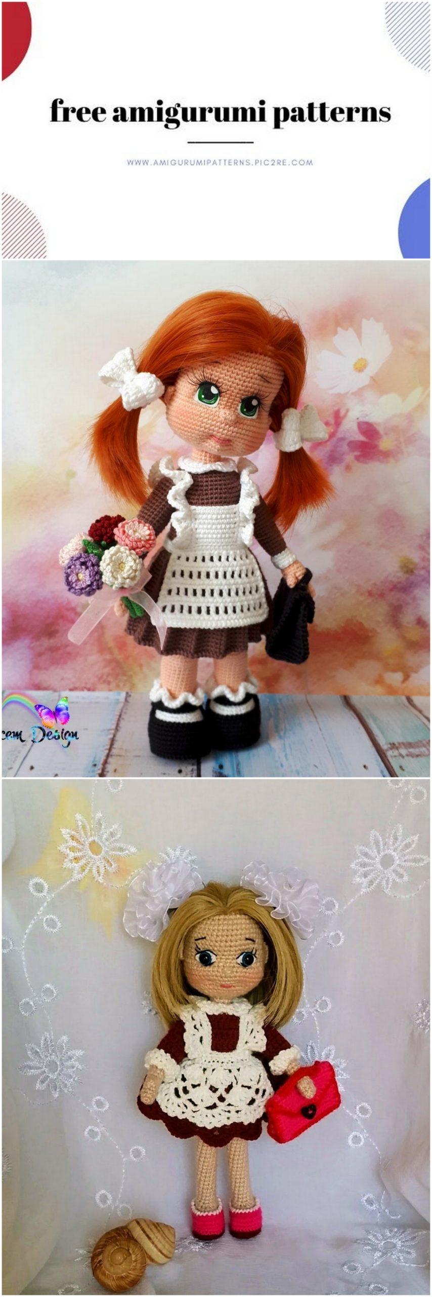 Petite School Girl Amigurumi Doll (Anime Japanese French European)   2560x854