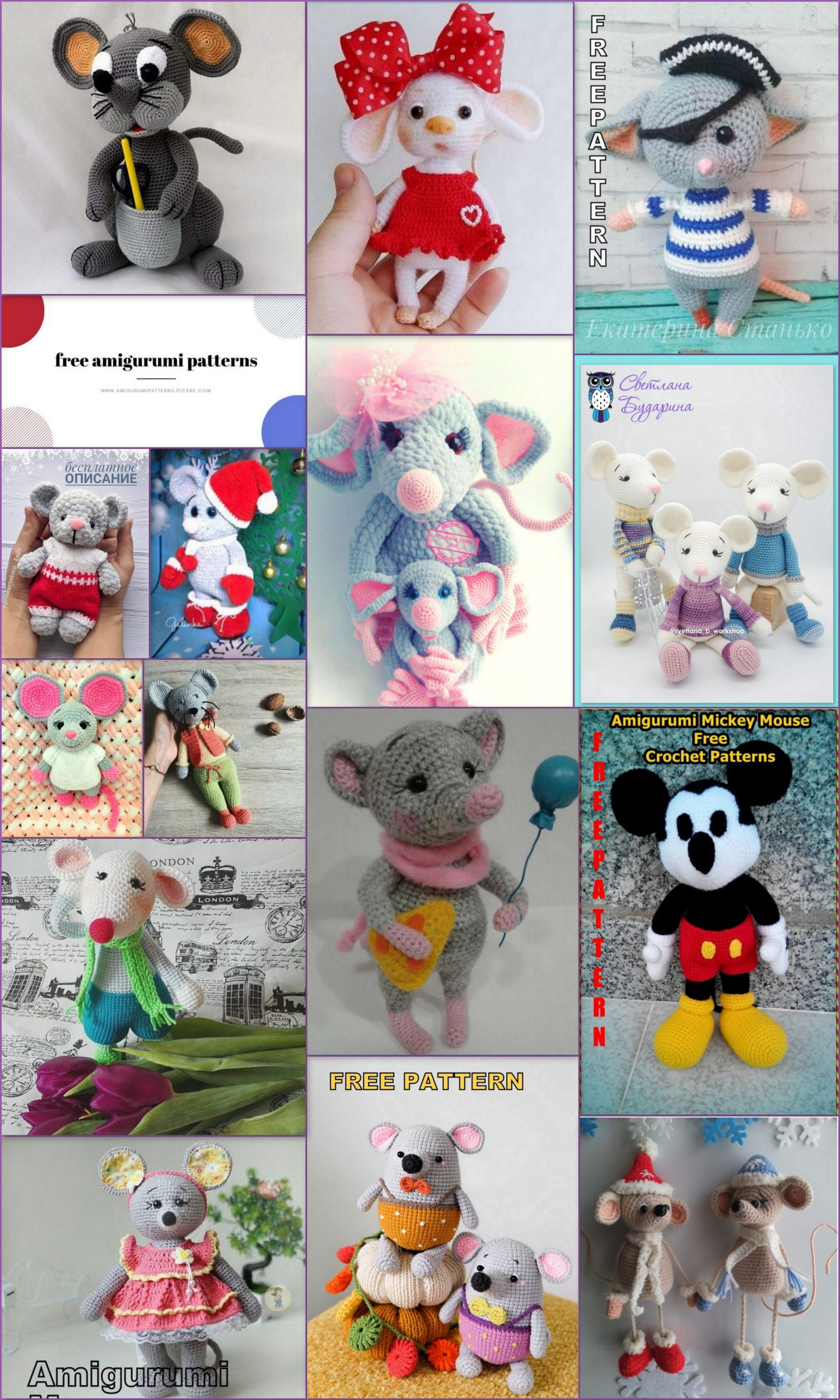 Amigurumi 15 Best Mouse Free Crochet Pattern in 2020 (With images ... | 2560x1536
