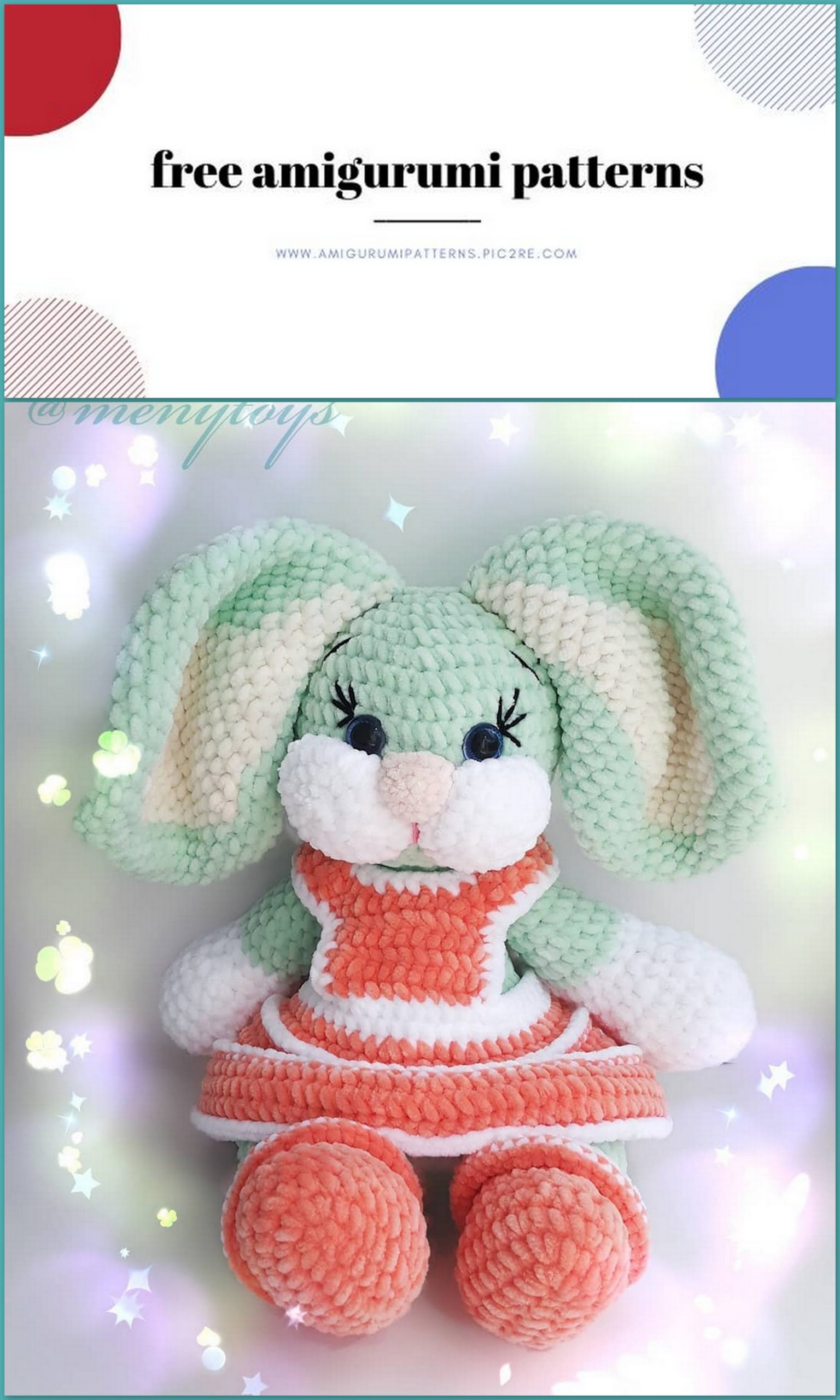 White rabbit amigurumi pattern - Amigurumi Today | 2560x1536