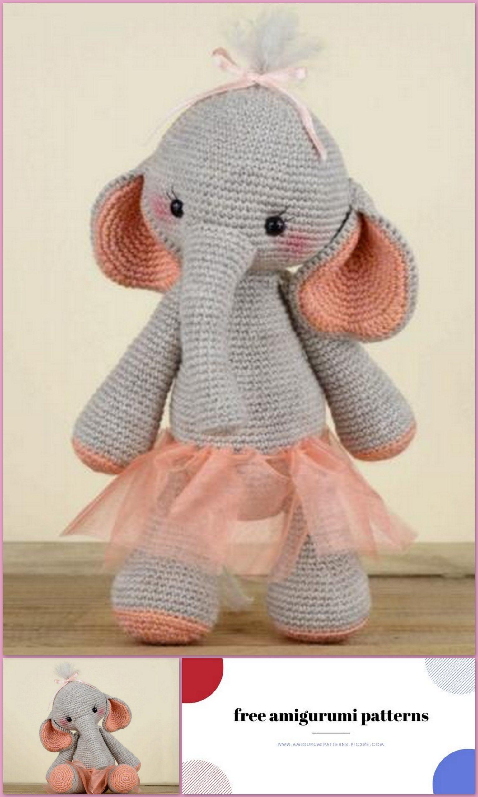 Amigurumi Elephant Free Crochet Pattern - Cool Creativities | 2560x1536
