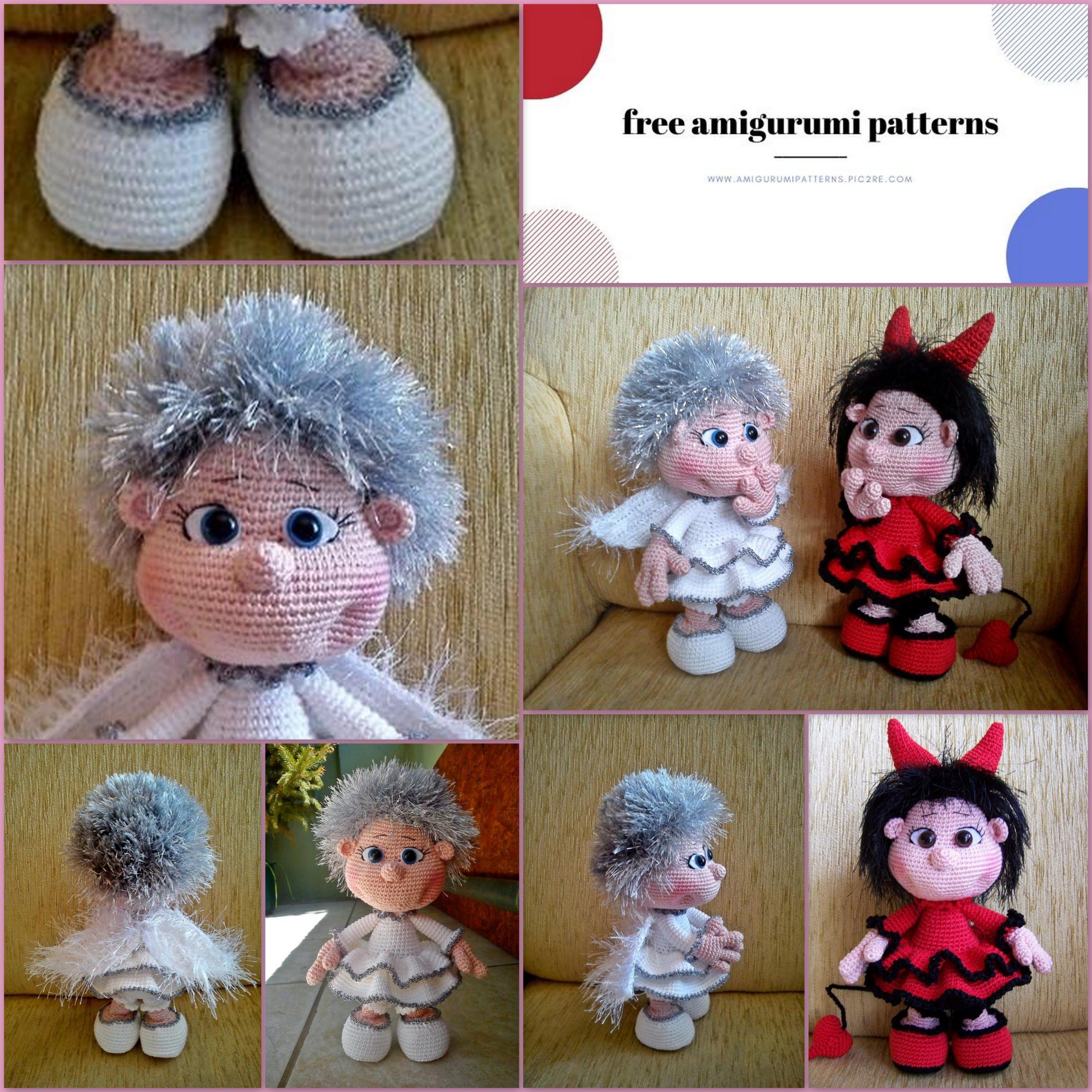 Beautiful Skills - Crochet Knitting Quilting : Amigurumi Doll Pacifier Baby  - Free Crochet Pattern | 2560x2560