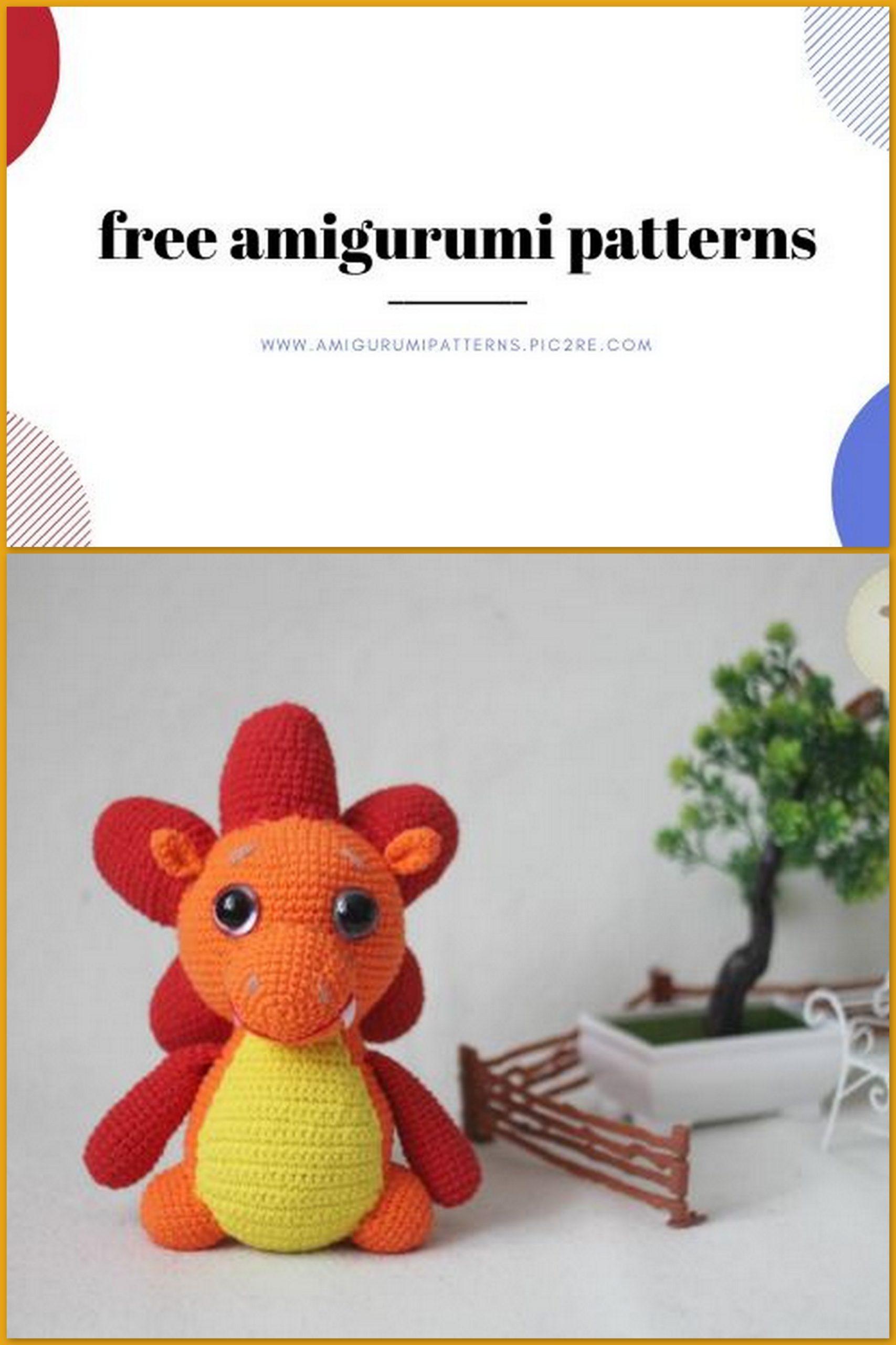 Amigurumi Orbit The Dragon - Free Crochet Pattern   2560x1707