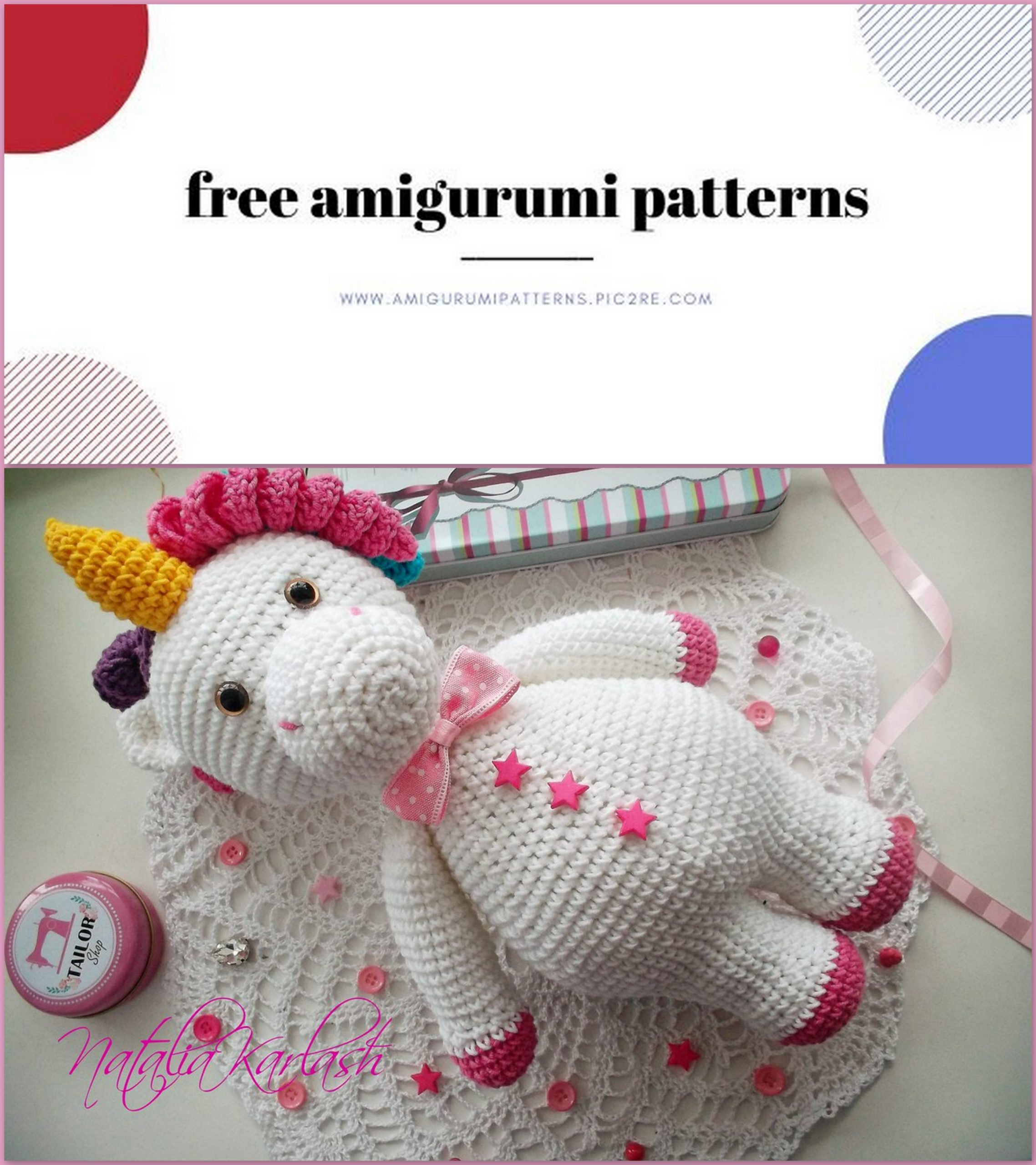 Free Crochet Unicorn Pattern - Red Ted Art - Make crafting with ...   2560x2276